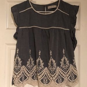 Abercrombie & Fitch A&F embroidered top